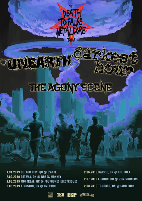 Unearth and Darkest Hour Map Out Canadian Tour