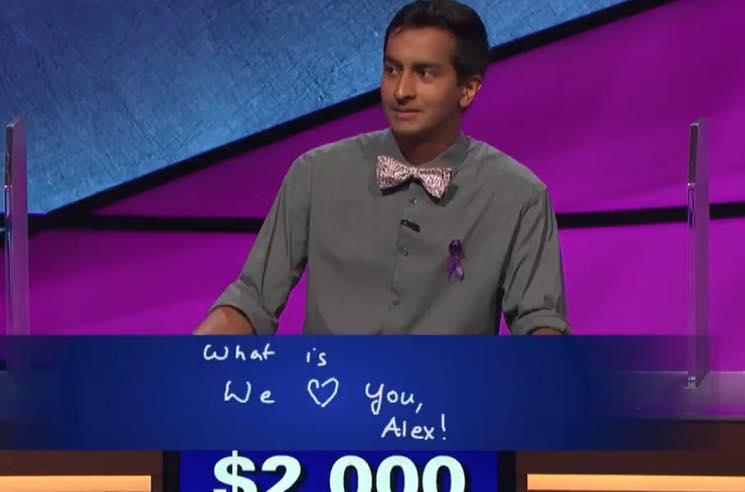 'Jeopardy!' Contestant Dhruv Gaur Makes Alex Trebek Tear Up During 'Final Jeopardy'