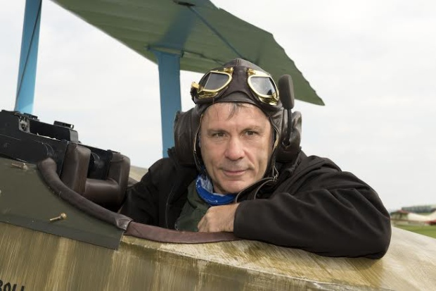 Iron Maiden's Bruce Dickinson Makes Emergency Landing in WWI Triplane