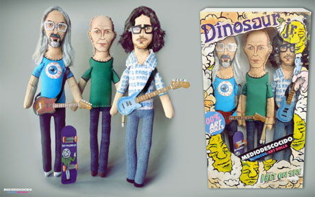 Dinosaur Jr. Honoured with One-of-a-Kind Doll Set