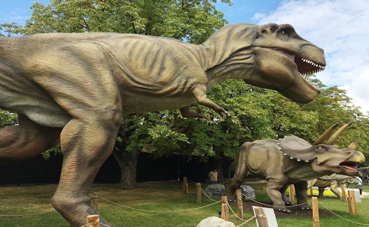 Start Your Own 'Jurassic Park' with These Animatronic Dinosaurs for Sale in Langley, BC