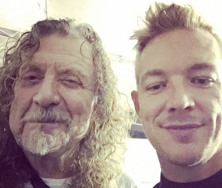 Robert Plant and Diplo Working on Collaboration