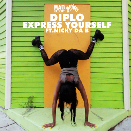 "Diplo ""No Problem"" (ft. Flinch and Kay) / ""Express Yourself"" (video)"