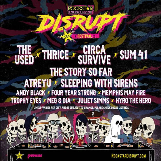 The Used, Thrice, Circa Survive, Sum 41 to Play Inaugural Disrupt Festival