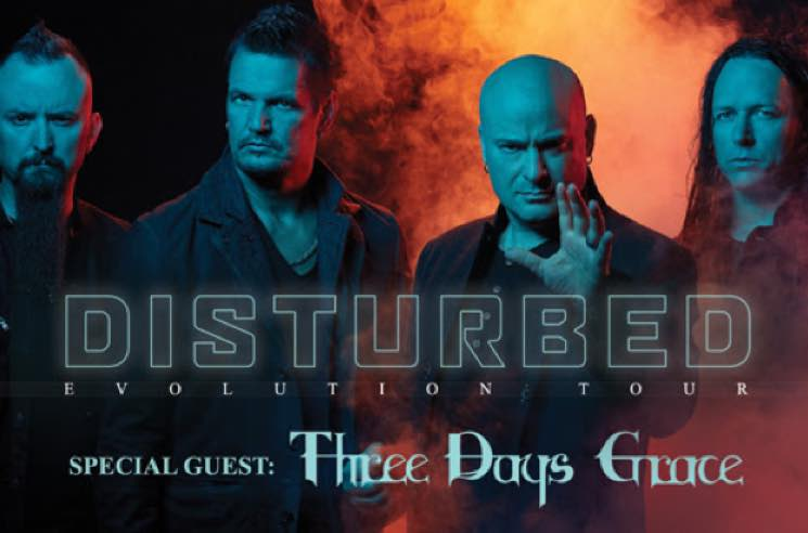 "​Disturbed Map Out ""Evolution World Tour"" with Three Days Grace"