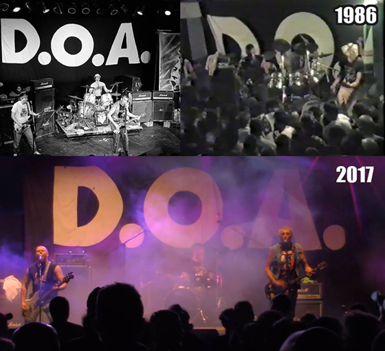 D.O.A. Robbed of the Historic Stage Backdrop They've Used Since 1985