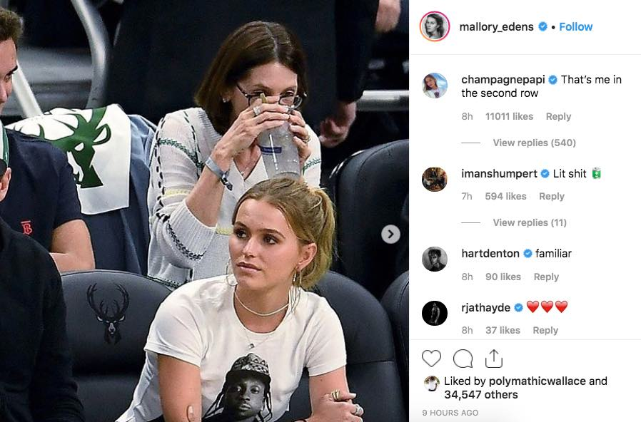 The Milwaukee Bucks Owner's Daughter Wore a Pusha-T Shirt to Troll Drake