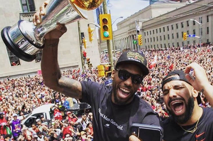 Watch Drake Having the Time of His Life at the Raptors Championship Parade