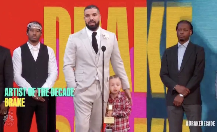 Drake Brought His Son Adonis Onstage at the Billboard Awards