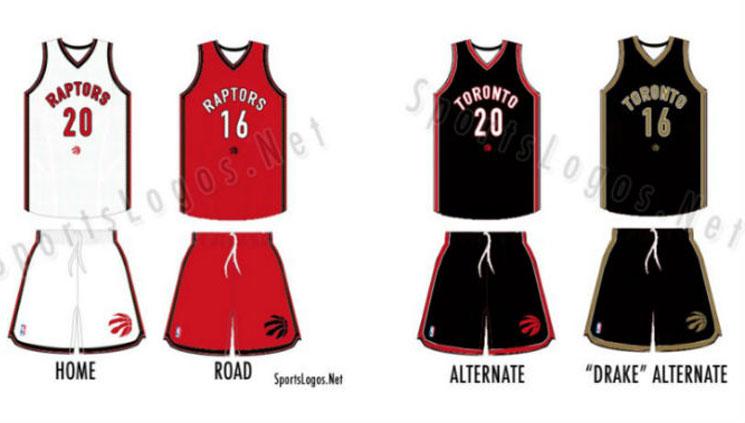 "Toronto Raptors Unveil Alternate ""Drake"" Uniform"
