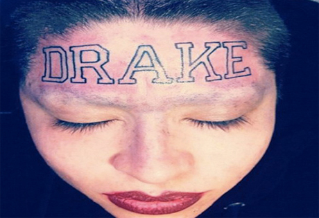 Drake Baffled by Fan's Tributary Forehead Tattoo, Pissed Off at Artist