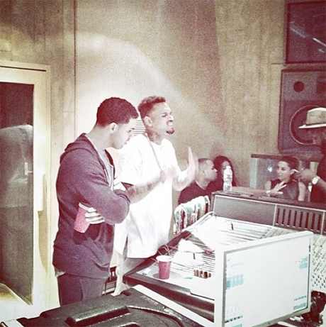 Drake and Chris Brown Collaborating in Studio?