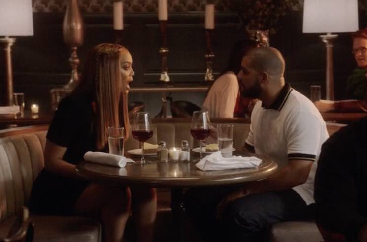 "Watch Drake and Tyra Banks Fight at Cheesecake Factory in ""Childs Play"" Video"