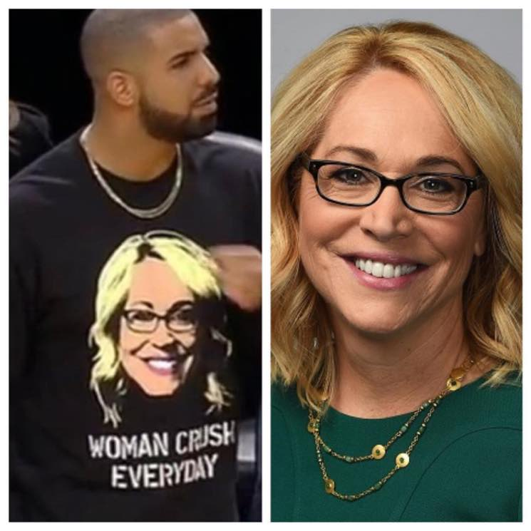 ​Drake Asked Out ESPN's Doris Burke While Wearing a Shirt with Her Face on It