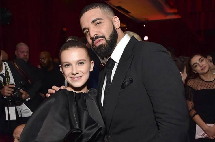 Drake Hung Out with the Kids from 'Stranger Things' at a Golden Globes After Party