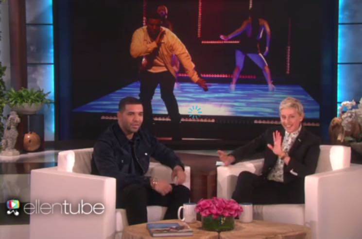 Watch Drake Drop by 'Ellen' to Chat and Play 'Never Have I Ever'