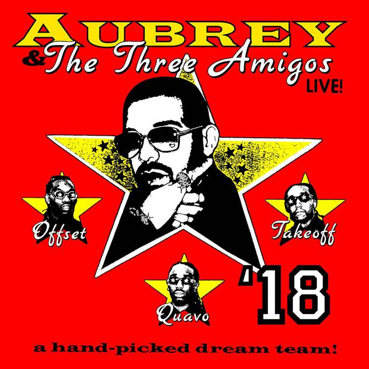 "​Drake and Migos Announce ""Aubrey and the Three Amigos"" North American Tour"