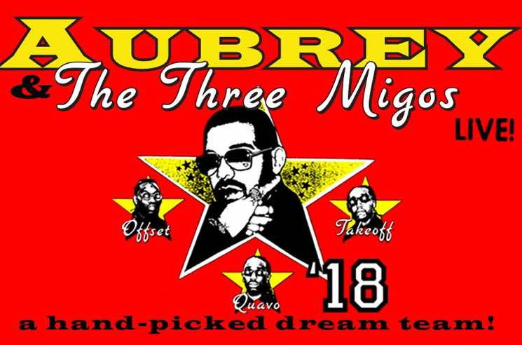 "​Drake Adds Third Toronto Date to ""Aubrey and the Three Migos Tour"""
