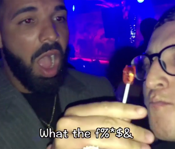 Watch Drake Lose His Mind over Some Lollipop Magic