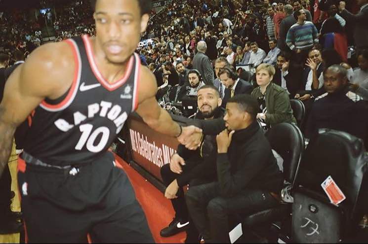 Drake Pays Homage to Toronto Raptor DeMar DeRozan