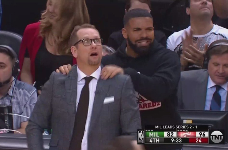 Milwaukee Is Sick of Drake's Sideline Antics
