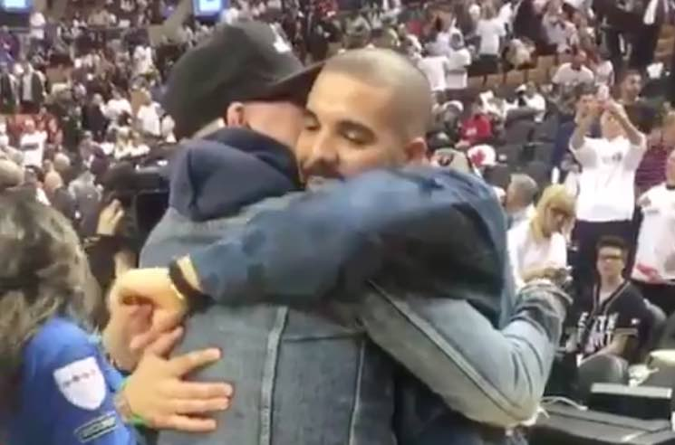 Gord Downie Honoured by Drake and Toronto Raptors at Playoff Game