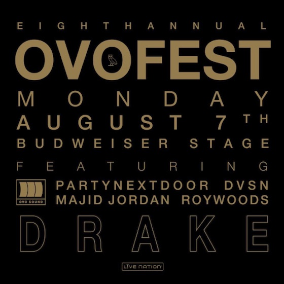 Drake Has Shared the Details for OVO Fest 8