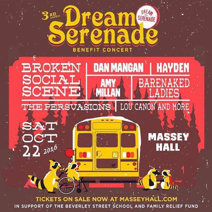 ​Hayden's Dream Serenade Benefit Gets Broken Social Scene, Barenaked Ladies, Dan Mangan