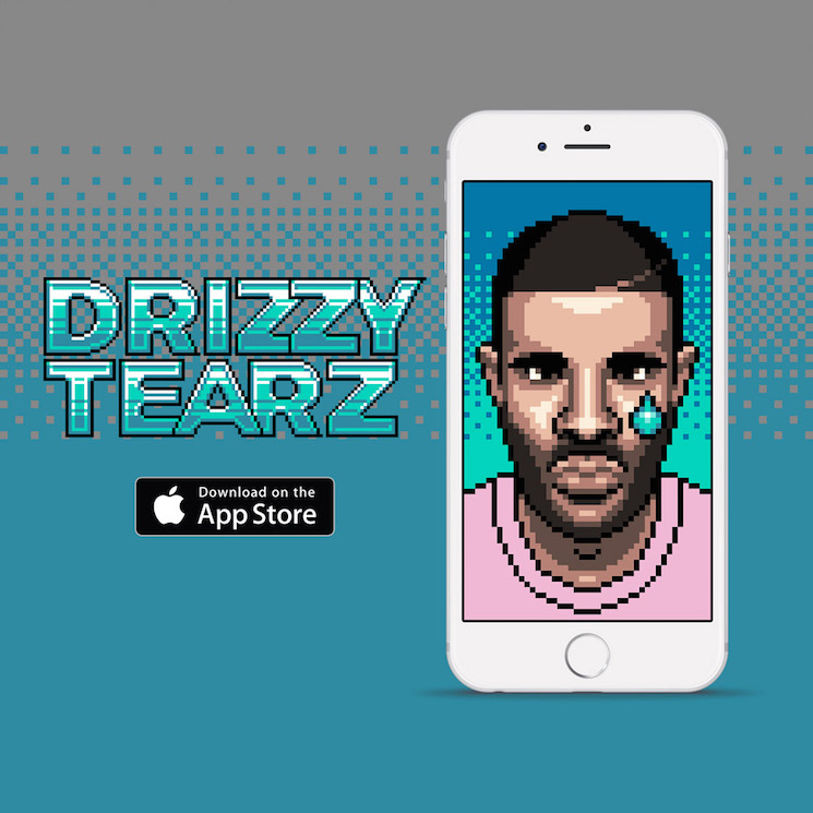 Comfort a Crying Drake with the 'Drizzy Tears' App