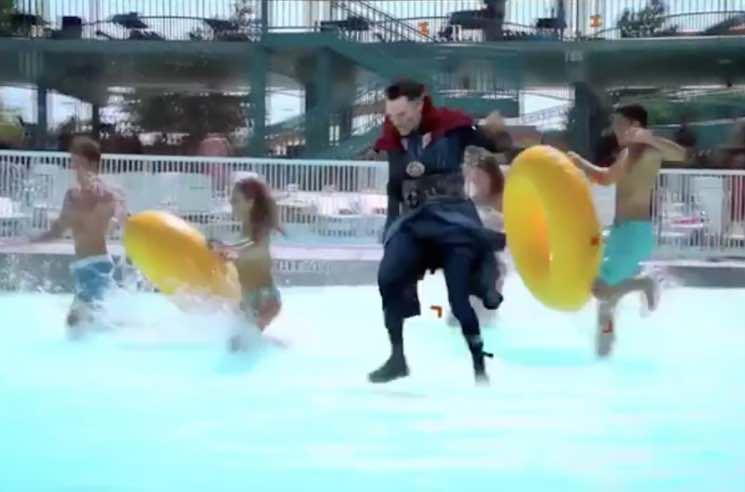 ​This Guy Edited Benedict Cumberbatch as Doctor Strange into a Waterpark and It's Hilarious