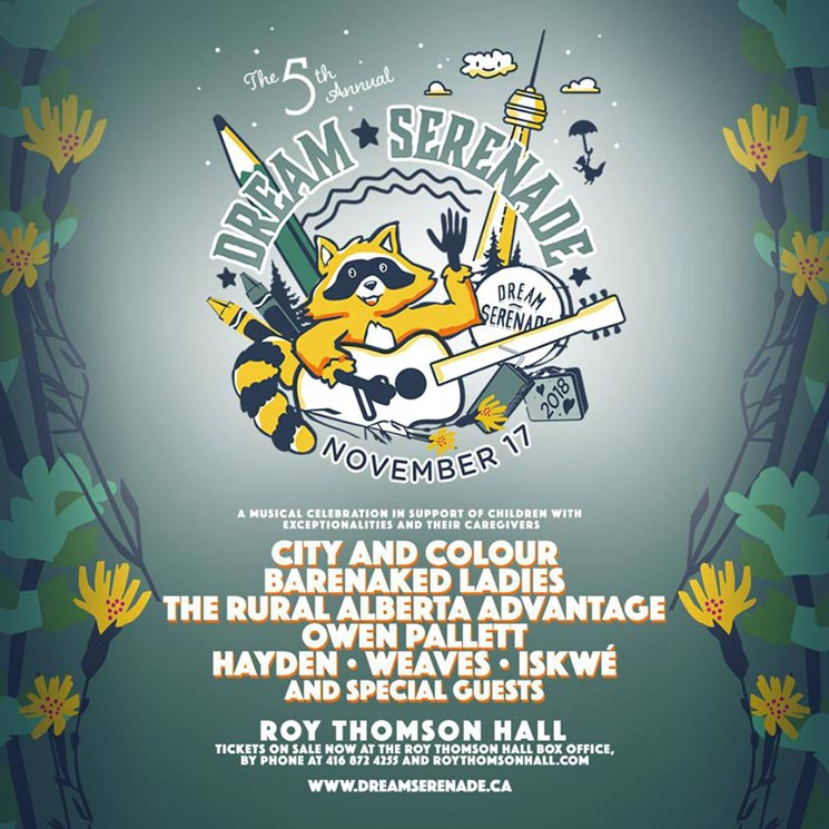 ​Hayden's Dream Serenade 2018 Gets City and Colour, Barenaked Ladies, Owen Pallett