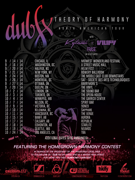 Dub Fx Rolls Out North American Tour, Launches Homegrown Harmony Contest