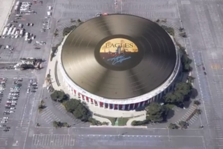 "Eagles' 'Hotel California' Turned into ""World's Largest Vinyl Record"""