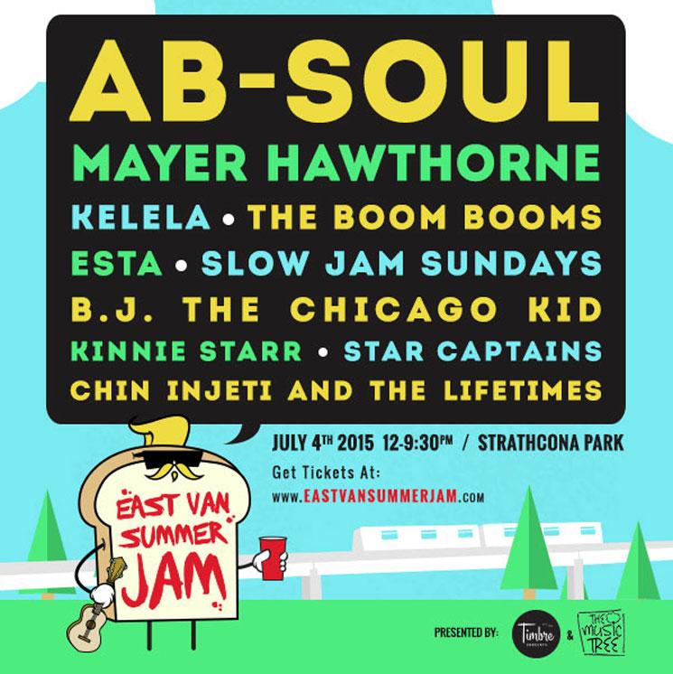 East Van Summer Jam Gets Ab-Soul, Mayer Hawthorne, Kelela