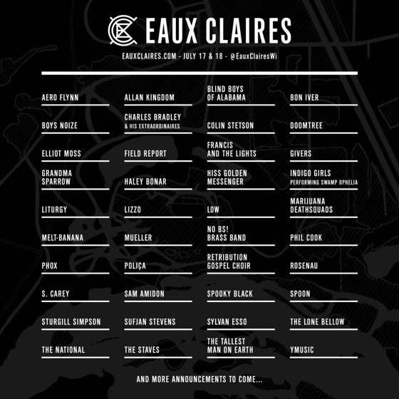 Justin Vernon Unveils Eaux Claires Music & Arts Festival Lineup