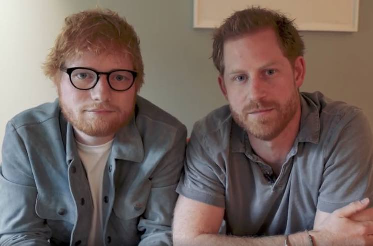 ​Ed Sheeran and Prince Harry Team Up for World Mental Health Day Video