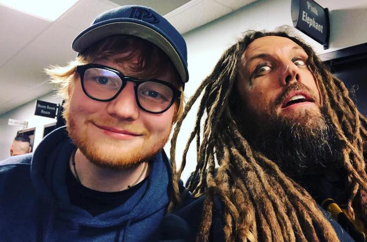 Ed Sheeran Hung Out with Korn Backstage at a Marilyn Manson Concert