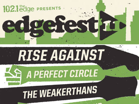 Toronto's Edgefest Gets Rise Against, A Perfect Circle, Weakerthans, Tokyo Police Club for 2011 Edition