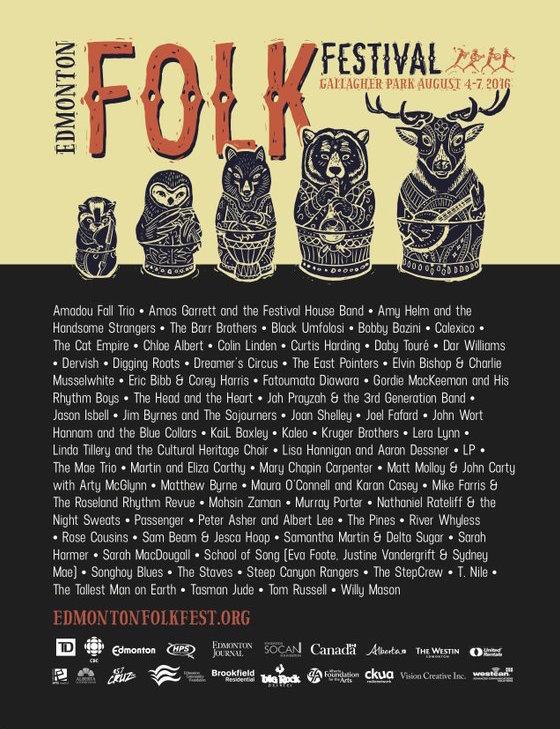Edmonton Folk Festival Unveils 2016 Lineup
