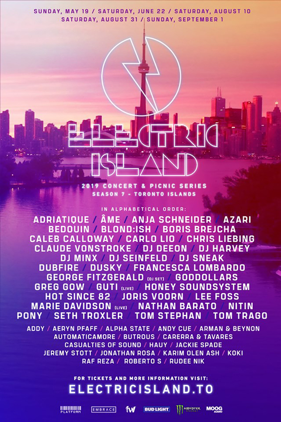 Toronto's Electric Island Gets Marie Davidson, DJ Seinfeld, Seth Troxler for 2019 Season
