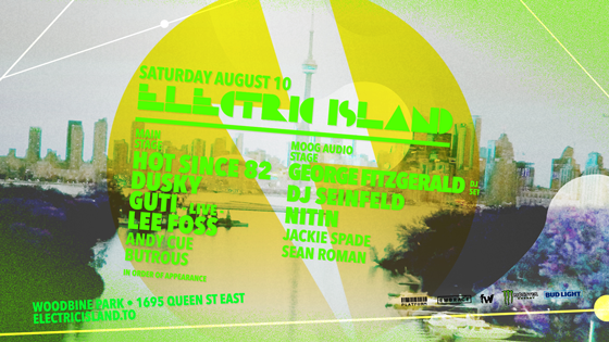 Toronto's Electric Island Moves August 10 Event