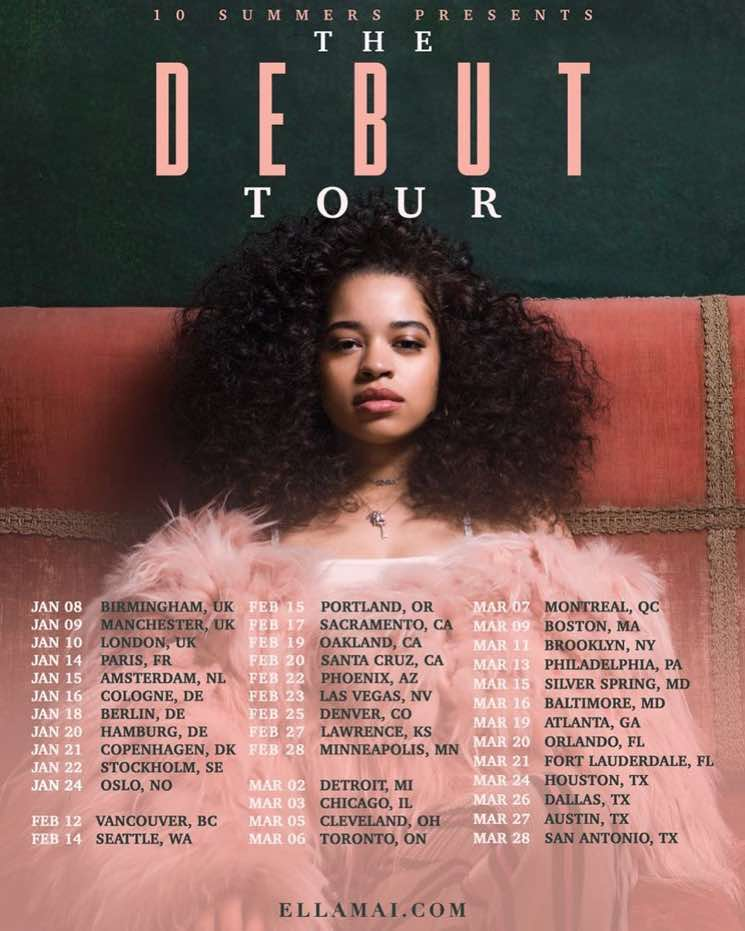 "Ella Mai Maps Out ""The Debut Tour"""