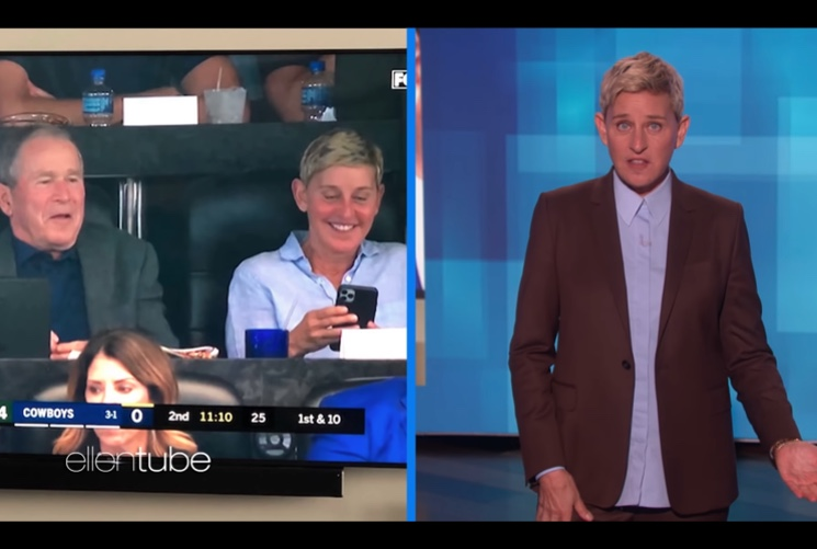 Ellen DeGeneres Responds to Criticism for Hanging Out with George W. Bush
