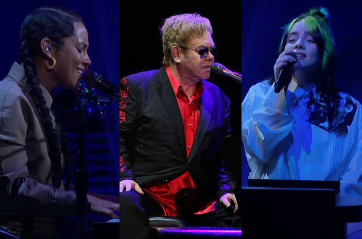 Elton John to Host Coronavirus Benefit Concert with Billie Eilish, Alicia Keys
