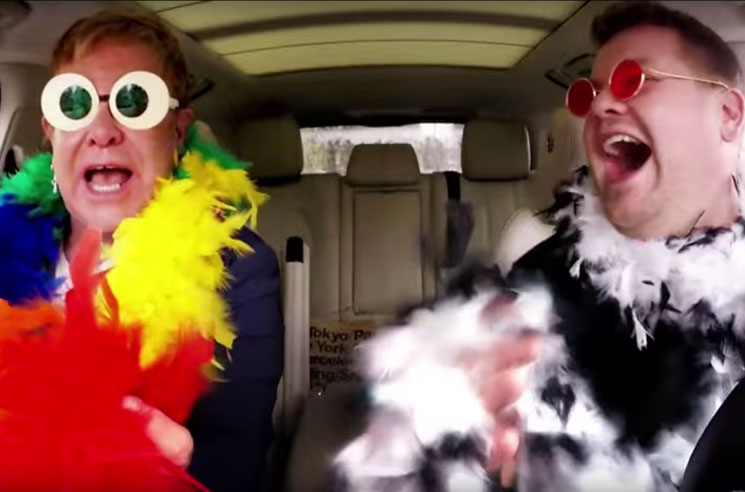 "Elton John Joins James Corden for ""Carpool Karaoke"""