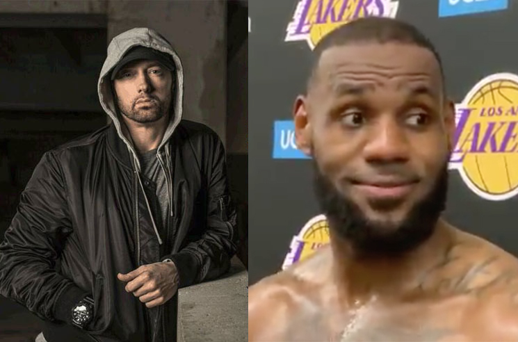 "LeBron James and the Lakers Practice to Eminem on ""White Boy Wednesdays"""