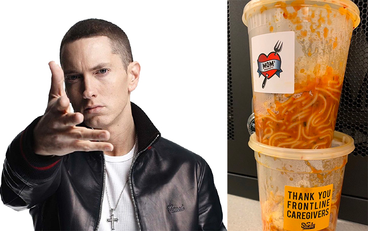 Eminem Donates 'Mom's Spaghetti' to Frontline Workers in Detroit