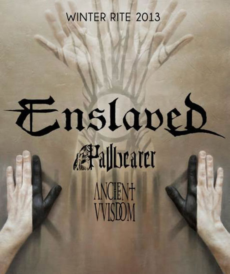 "Enslaved Announce ""Winter Rite 2013"" North American Tour with Pallbearer and Ancient VVisdom"