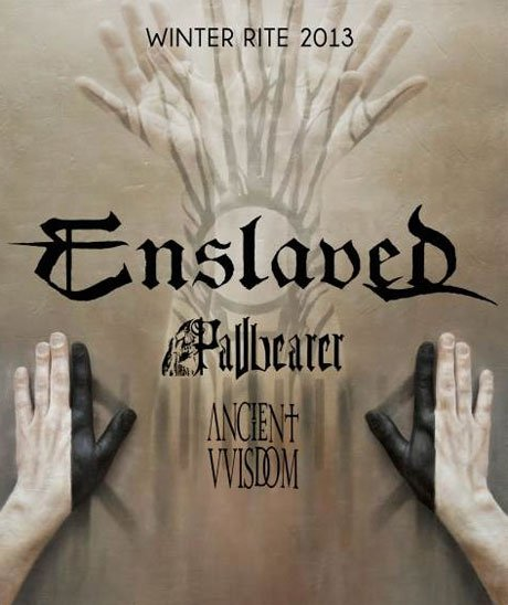 Enslaved Announce 'Winter Rite 2013' North American Tour with Pallbearer and Ancient VVisdom