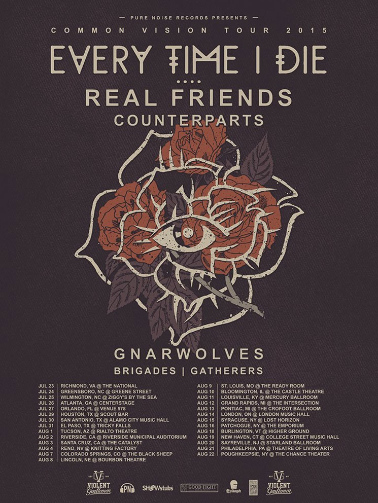 "Every Time I Die Join Real Friends, Counterparts for ""Common Vision Tour"""